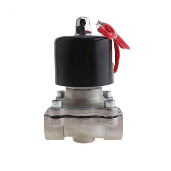 1/4'' Solenoid Valves 12V 110/220V Water Valve Normally Closed Type Electric Solenoid Valve Stainless Steel for Water Oil Gas 3991624 fuel shutdown solenoid valve sa 4959 12 for 5 9b excavator 12v