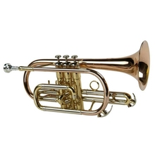 Gold lacquer Cupronickel slide Phosphor copper leadpipe and bell Tone Bb Cornet