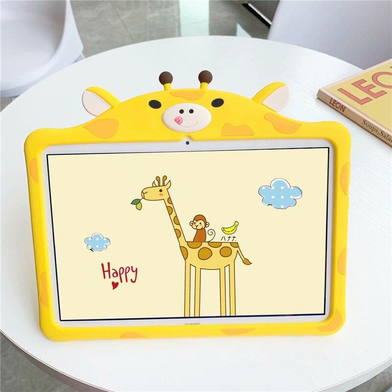 """Dzieci Cartoon piękny silikonowy pokrowiec do Huawei Mediapad T5 M5 Lite 8.0 10.1 """"M6 8.4 MatePad Pro 10.8 10.4 Tablet ochronna"""