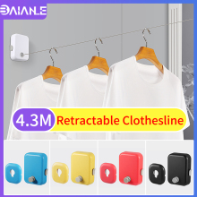 Retractable Clothesline Indoor Outdoor Telescopic Stainless String Invisible Clothesline Dryer Balcony Clothes Drying Rack Rope robinson outdoor products sb dryer sheets 20 ct canister