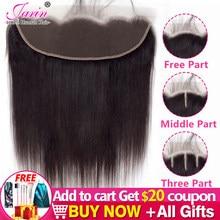 Perulu düz saç 13x4 dantel Frontal kapatma sadece ücretsiz orta üç bölüm orta kahverengi dantel kapatma Remy İnsan saç toplu satış