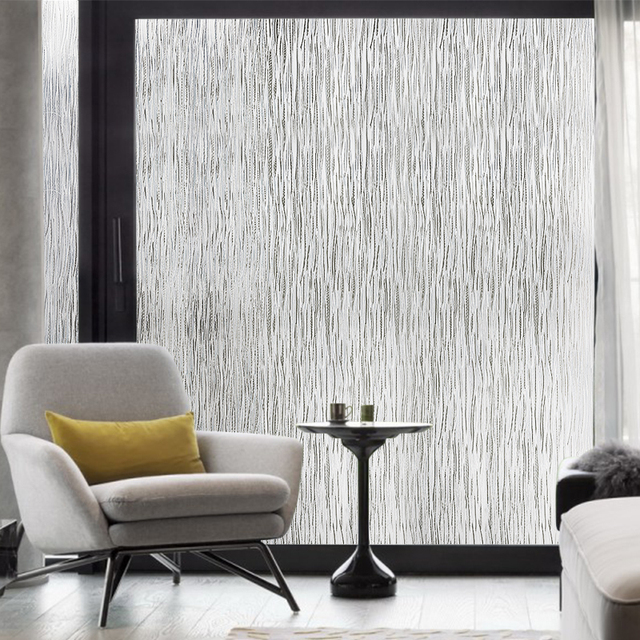 Rain Privacy Window Film Static Cling Frosted Glass Sticker Home Decor Static Window Decor Self-adhesive Film Anti UV 4
