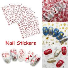 3D Christmas Design Nail Sticker For Women DIY Nail Art Stickers Decals Snowflakes Snowmen Santa Manicure Decoration Accessories 3d nail art fimo soft polymer clay fruit slices cartoon for nail manicure sticker cell phones diy designs wheel decoration czp35