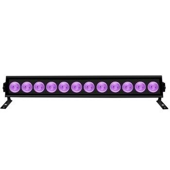 Горячая 12 Светодиодный УФ вечерние дискотечные рождественские бар черный светильник УФ фиолетовый настенный светильник светодиодный сцен...