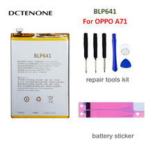 цена на DCTENONE 3000mAh BLP641 phone battery for OPPO A71  Replacement Batteries+free tools