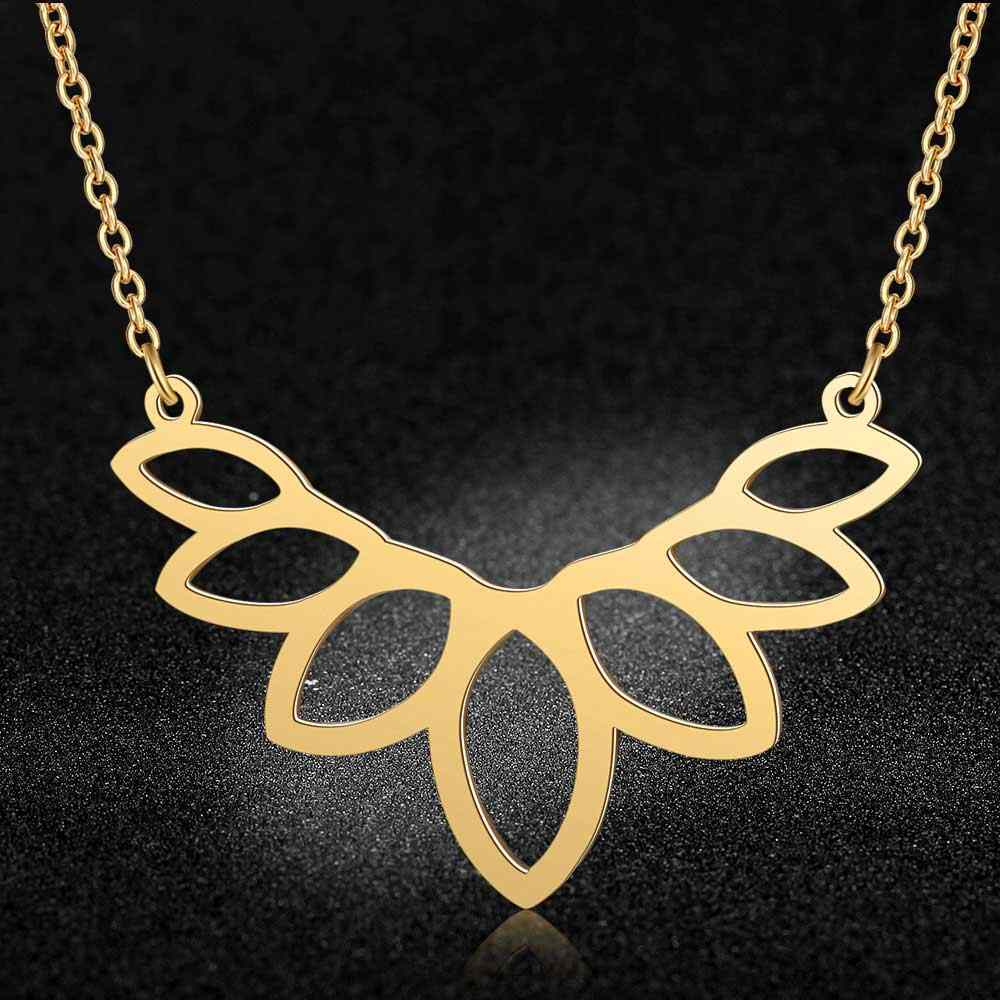 Unique Lotus Flower Necklace LaVixMia Italy Design 100% Stainless Steel Necklaces for Women Super Fashion Jewelry Special Gift