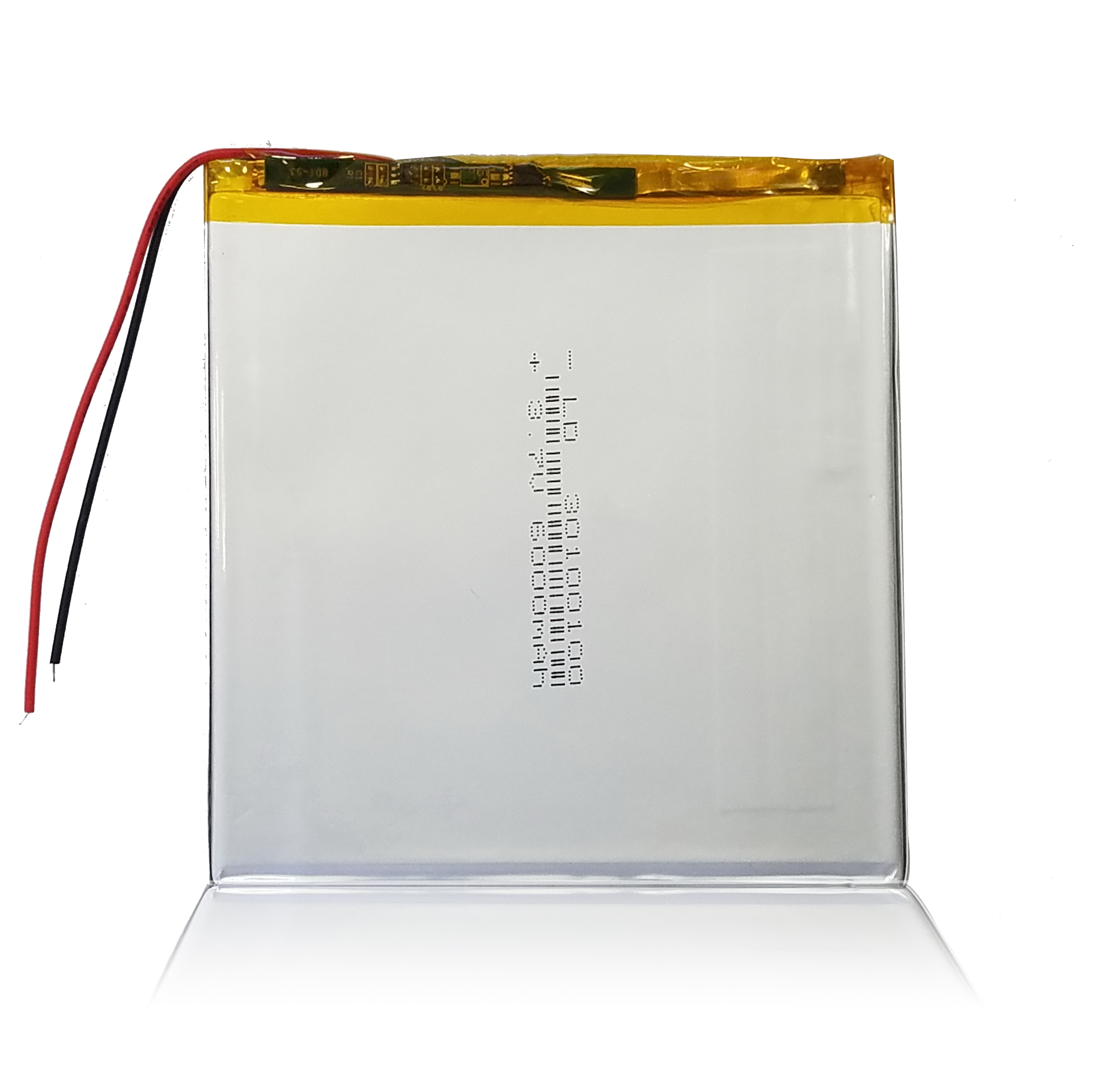 30100100 lithium polymer <font><b>battery</b></font> 3x100x100mm <font><b>3.7v</b></font> <font><b>6000mah</b></font> <font><b>tablet</b></font> <font><b>battery</b></font> 2 wire image