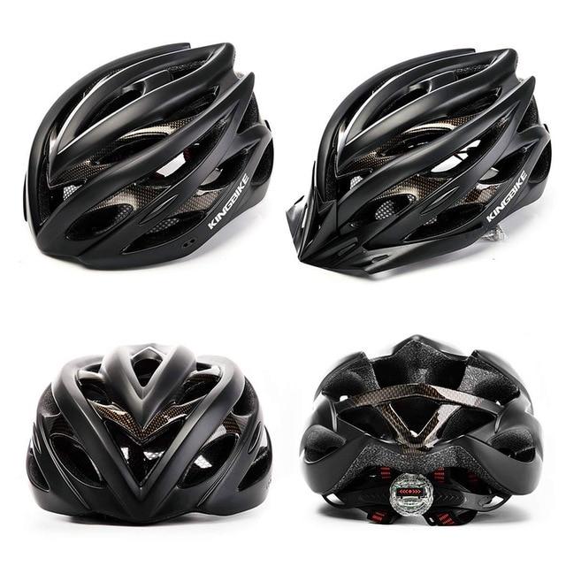 Kingbike capacete de bicicleta ultra leve, capacete de ciclismo mtb cpsc com luz traseira e luz de carbono, cor para ciclismo 2