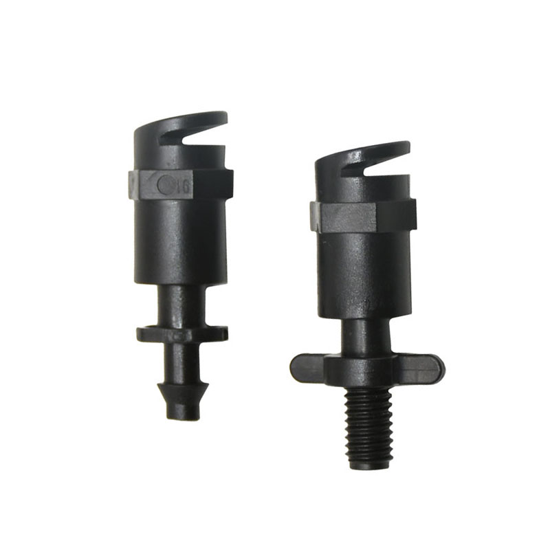 Garden 180 Degrees Refraction Nozzle Misting Sprinkler Barbed Thread Connector Fruit Tree Lawn Watering Sprinklers 10pcs