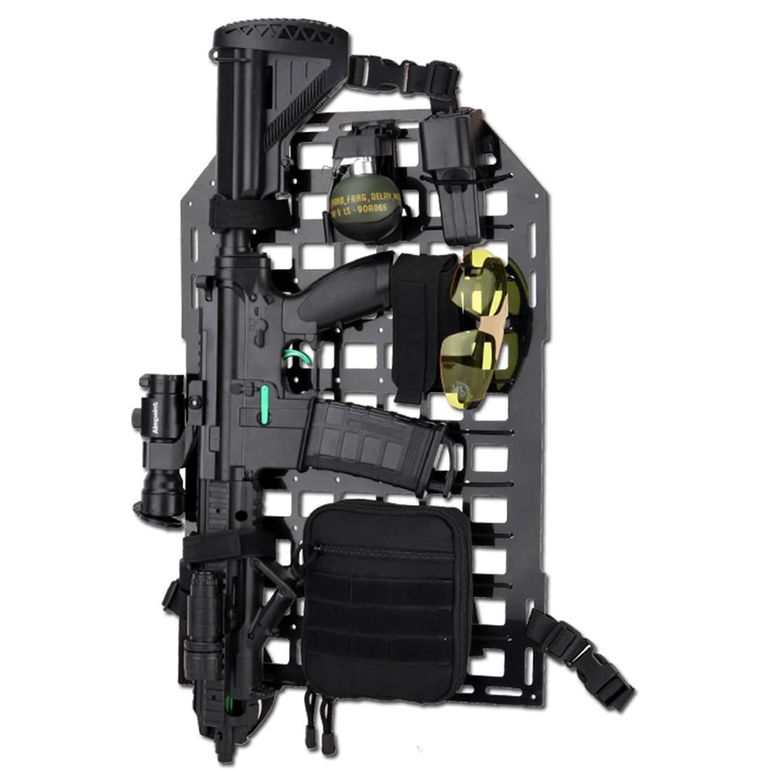 MODIKER WST Tactical Insert Panel Car Seat Back Organizer Tactical Seatback Equipment Outdoor- Black