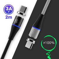 SIKAI 1.5M 2M Magnetic Cable USB C Micro USB Type C Fast Charging Microusb Type-C Magnet Charger For iPhone 11 Pro X Xs MAX XR