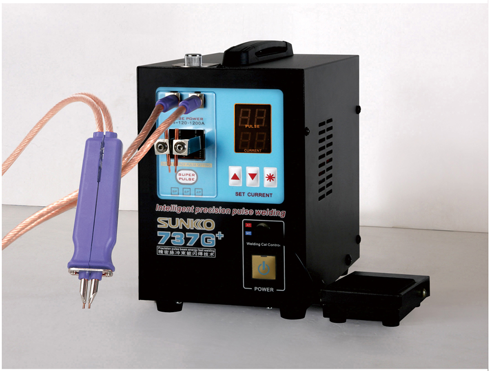 SUNKKO  737G  Battery Spot Welder 4 3KW High Power Automatic Spot Welding Machine For 18650 Lithium Batteries Pulse Spot Welders