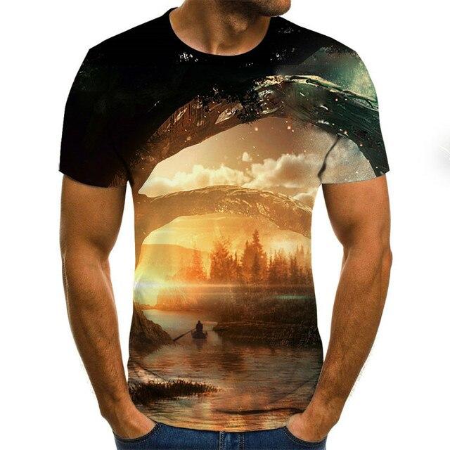 2020 New Men 3D T-shirt Casual Short Sleeve O-Neck Fashion Nature Printed t shirt Men Tees 4