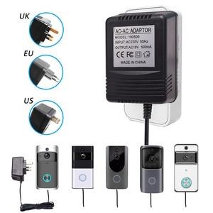 Image 1 - Адаптер питания для беспроводного видеодомофона с Wi Fi, штепсельная вилка стандарта США, Великобритании, 18 в, трансформатор переменного тока, зарядное устройство, IP, видеодомофон 110 240 В