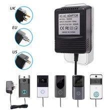 for Wifi Wireless Video Doorbell Camera Power Adapter US UK EU Plug 18V AC Transformer Charger IP Video Intercom Ring 110V 240V