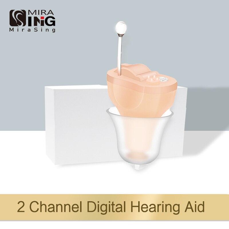 Audífonos invisibles CIC para el interior del oído, amplificadores de sonido 2020