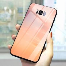 Phone Cover For Samsung Note 9 Space Sun Cloud Art Glass Cover Note 8 9 S7 Edge S8/S9 Plus S10 A10/20/30/40/50/60/70 M40(China)