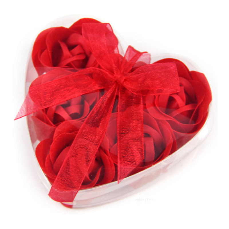 5pcs Heart Rose Soap Flower For Romantic Bath And Gift Natural Food Grade Ingredient Free Shipping High Quality 7 Colors