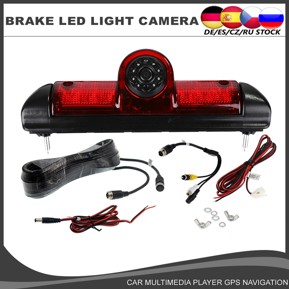 Car Brake Light Rear View Reverse Camera for Citroen JUMPER II III 2 3 Fiat DUCATO X250   Peugeot BOXER III Infrared light CCD