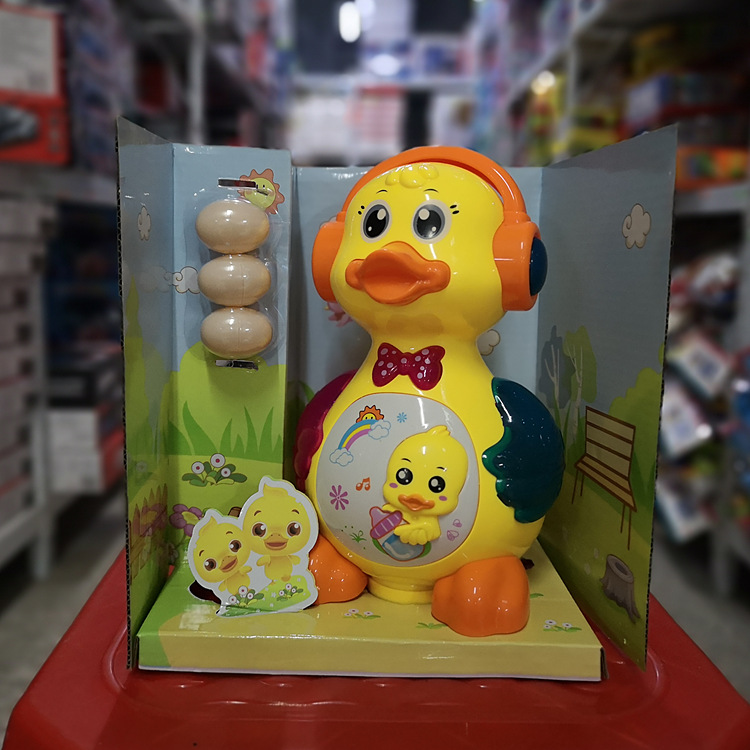 Baby Electric Toys Lay Eggs Of Little Duck Music Car Boys And Girls 1-3 Years Old Will Move The CHILDREN'S Toy