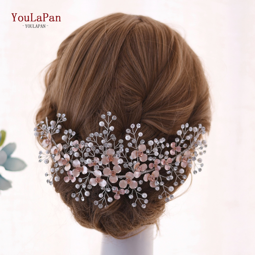 ~* HAUTE COUTURE BEAUTIFUL ROUND FLOWER CRYSTAL HEAD HAIR BAND ACCESSORIES *~