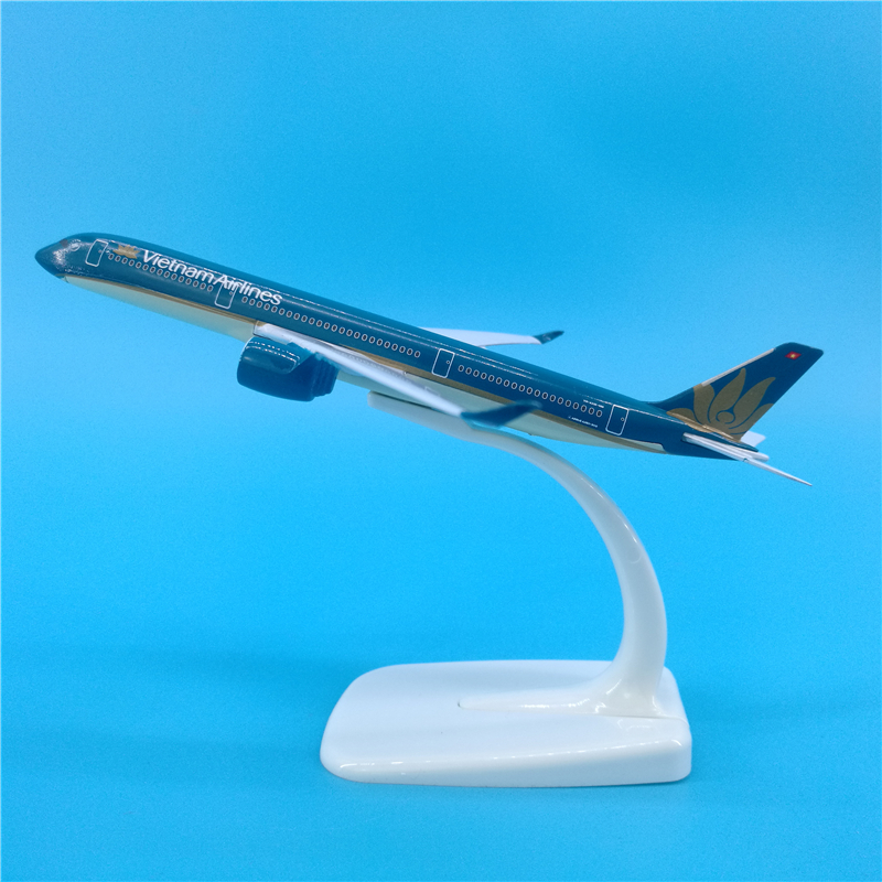 16cm Vietnam Airlines A350 Static Solid Metal Aircraft Model AA350 Aviation Collection Vietnam Airlines Decorate Model Airplane