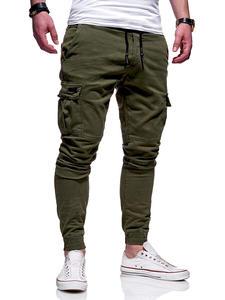 Tool-Pants Pocket Work-Beam Foot-Movement Elastic-Waist Battle Men's New-Style Casual