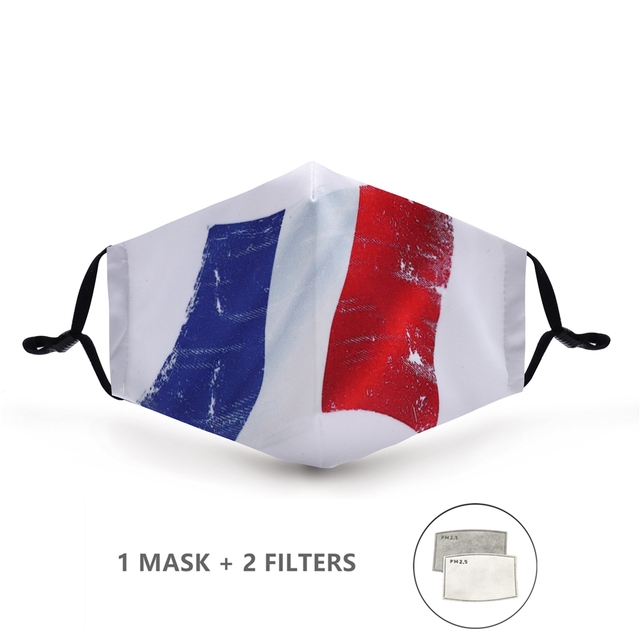 Variation #40 of fashion reusable protective pm2.5 filter printing mouth mask anti dust face mask windproof mouth-muffle bacteria proof flu mask