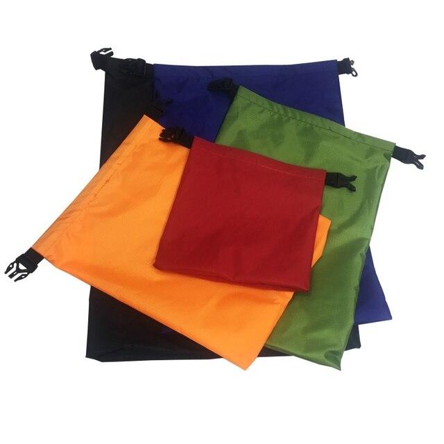 5pcs Waterproof Dry Bag Outdoor Beach Buckled Storage Sack Travel Drifting Bags