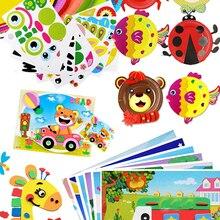 Handmade Toys Sticker Educational-Toys Art-Craft EVA Kindergarten Kids Children 3d Diy