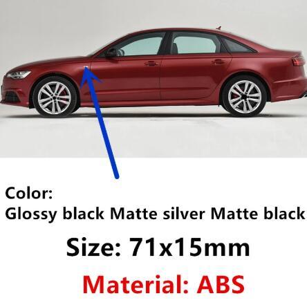 Linha sline s linha sline para audi a4 s4 rs4 a6 tt a3 emblema adesivo 2pc novo carro de prata fosco brilhante cromo preto abs s|Adesivos para carro|   -