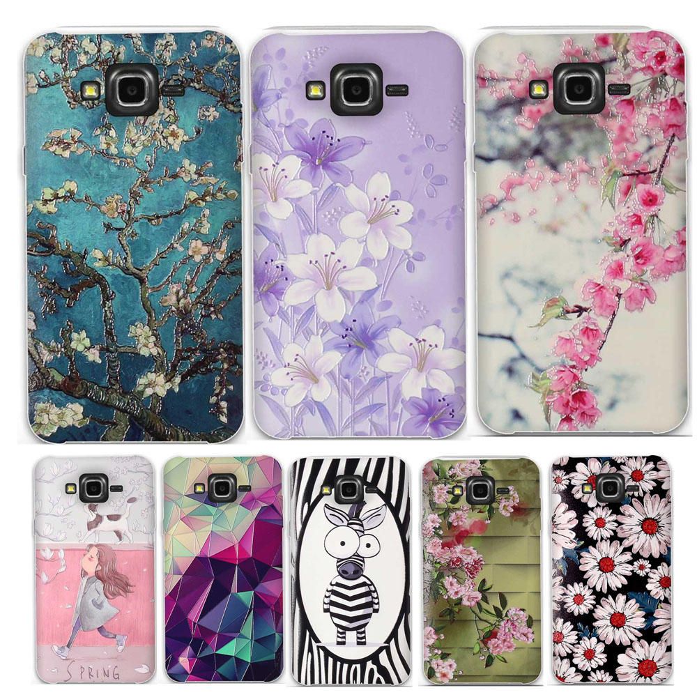 Phone Case Cover For <font><b>Samsung</b></font> Galaxy J7 2015 <font><b>SM</b></font>-J700F 5.5 inch J700 J7008 J700F <font><b>J700H</b></font> 3D Relief Paint Soft Silicone Fundas Bumper image