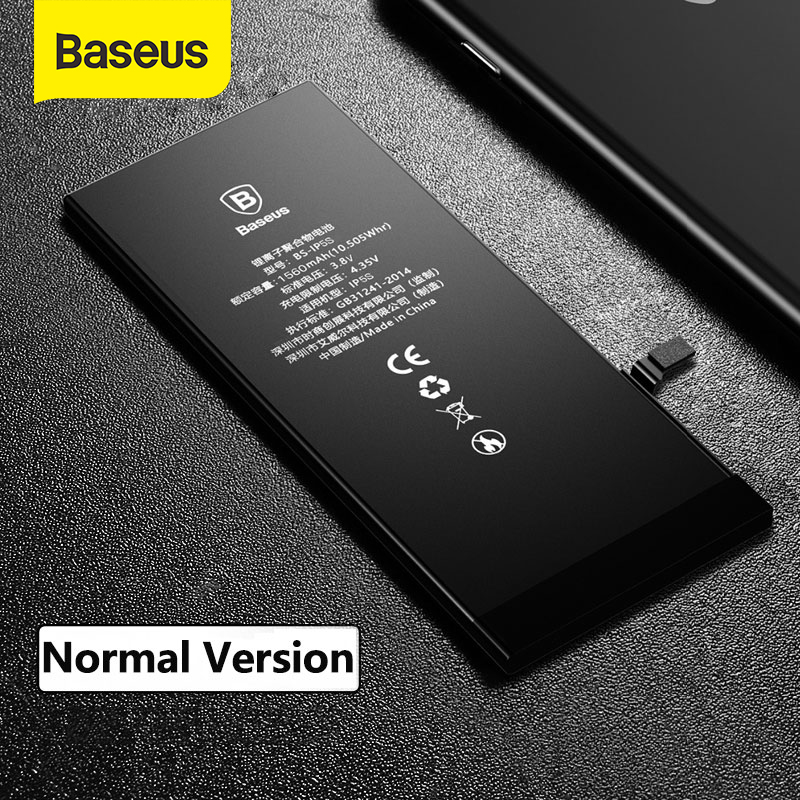 Baseus For iPhone 5s 6 6s 7 Battery Replacement Batteries with Free Installation Tools Kit Internal Bateria For iPhone 5s 6 6s 7