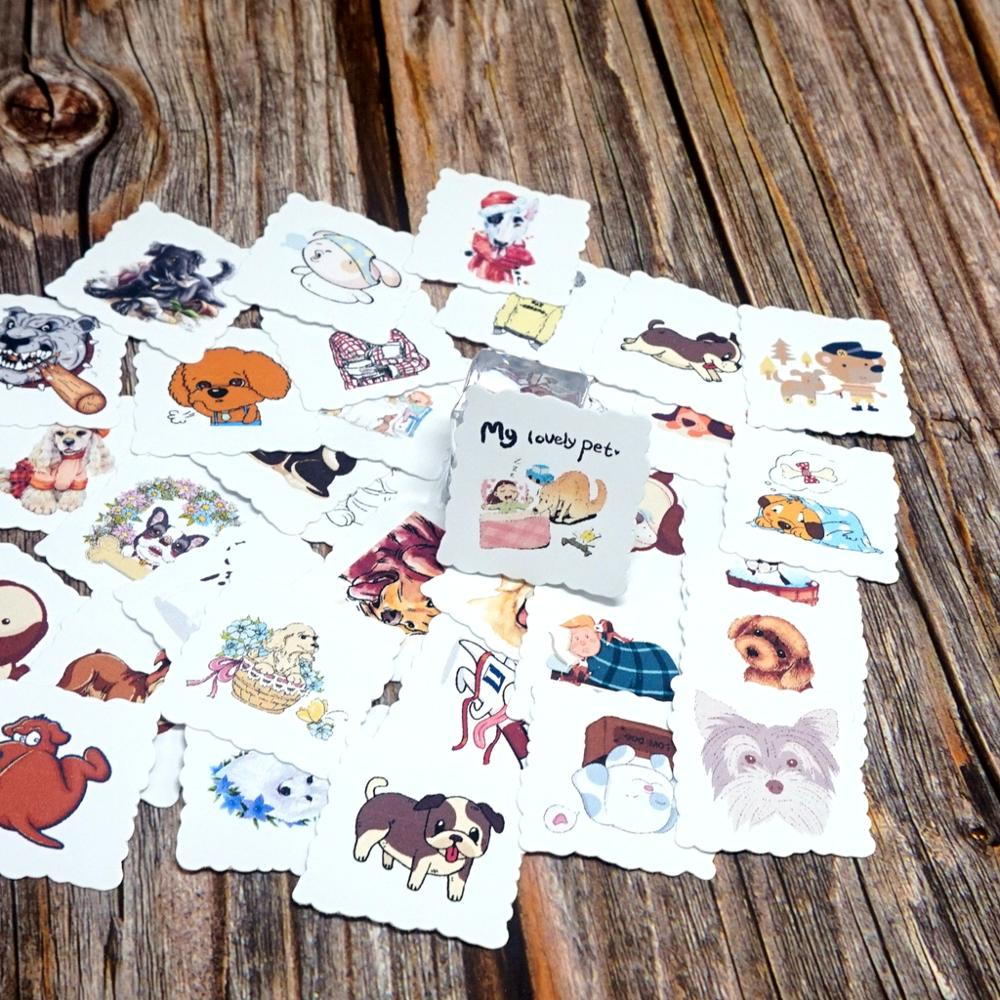 35pcs Cartoon Animals Waterproof Stickers Laptop Fridge Phone Skateboard Suitcase Guitar Stickers Kids Students Gift Stickers