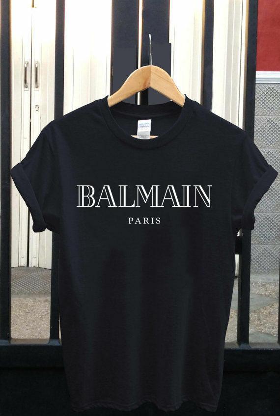 New Bal Paris Tee Logo T Shirt Black Shoft Shirt New Fashion T Shirt Brand Hip Hop Print Men Tee Shirt High Quality