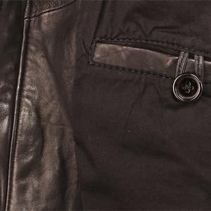 Image 4 - 100% עור כבש שזוף עור מעיל רך Slim סגנון גברים אמיתי עור מעילי גברים של עור מעיל בגדי אביב סתיו M459