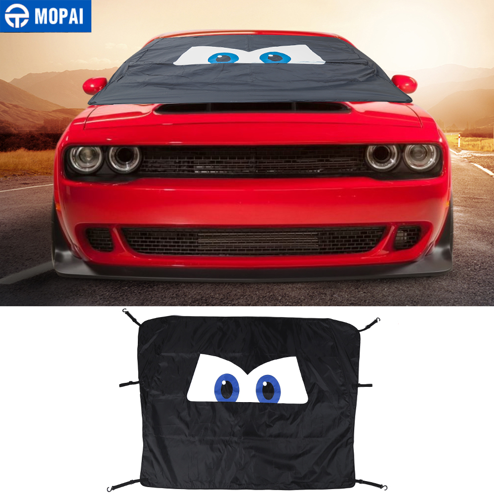 MOPAI Windshield Sunshades for Dodge Challenger Car Front Window Anti Snow UV Rays Sun Visor Cover for Dodge Challenger image