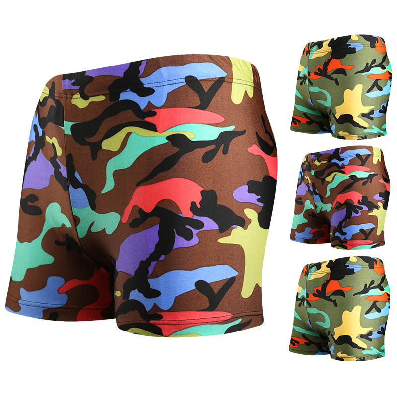 Fashion And Personality Camouflage Pattern Children Swimming Trunks Moisture Wicking Breathable BOY'S Hot Springs Swimming Trunk