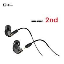 Meee áudio m6 pro 2 ° fone de ouvido, com cancelamento de ruído 3.5mm m6 pro geração 2 monitores hi fi intra auricular com cabos destacáveis