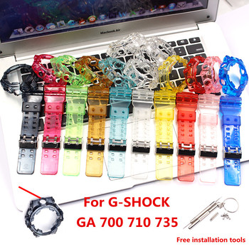 Watch accessories for Casio G-SHOCK GA700 710 735 rubber strap case men and women bracelet недорого