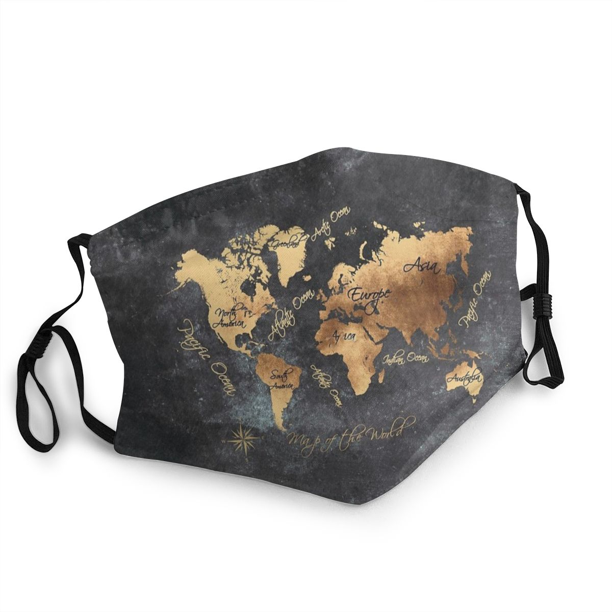 World Map Non-Disposable Face Mask Anti Bacterial Dustproof Protection Cover Respirator