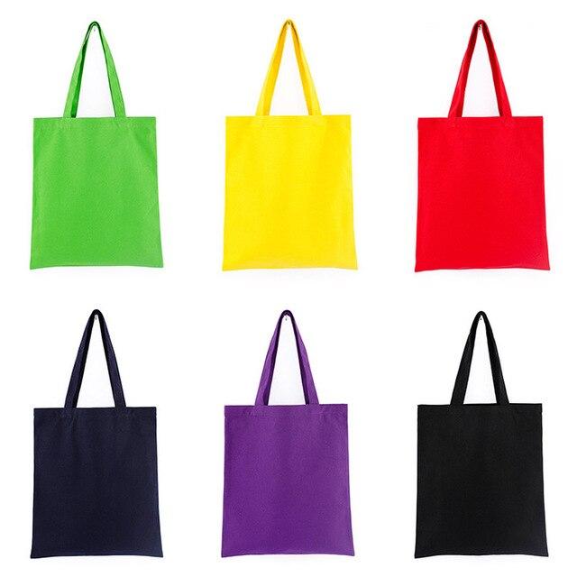 GABWE Unisex Handbags Custom Canvas Tote Bag Print Grocery Daily Use Reusable Eco Cotton Travel Casual Shopping Women Totes 3