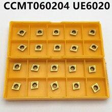 Твердосплавная вставка CCMT060204 UE6020 CCMT060204 US735 CCMT060204 VP15TF режущий инструмент с ЧПУ Токарный Инструмент CCMT 060204 фреза