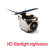 Universal HD Startlight Night vision Reversing Car camera 150 Degree Wide angle fish eye Front Rear view camera Switchable 12 lights plug in square reversing camera car hd night vision waterproof reversing image rear view wide angle reversing camera