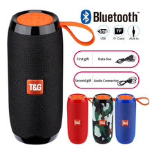 TG Bluetooth Speaker Portable Outdoor Loudspeaker Wireless Mini Column 3D 10W Stereo Music Surround Support FM TF Card Bass Box tg bluetooth speaker portable outdoor mini loudspeaker wireless with fm radio subwoofer column 3d 10w stereo bass phone holder