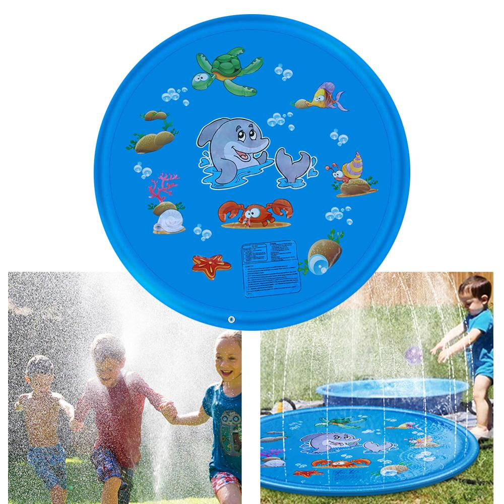 Summer Outdoor Garden Lawn Beach Sea Animal Inflatable Cold Water Spray Kids Sprinkler Play Game Pad Mat Tub Swiming Pool Toys