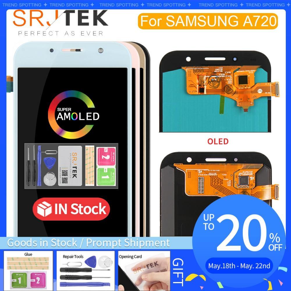 Оригинальный 5,7 ''Супер AMOLED ЖК дисплей для SAMSUNG Galaxy A7 2017 ЖК дисплей A720 A720F A720M A720Y сенсорный экран дигитайзер Замена