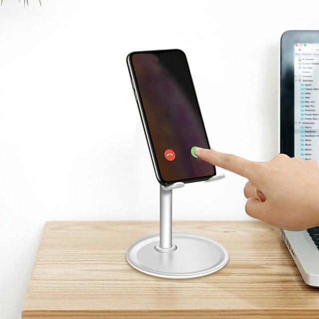 Soporte de escritorio universal Alumium para teléfono móvil, soporte de escritorio para tableta, soporte Flexible para Samsung Xiaomi Huawei Iphone Racks