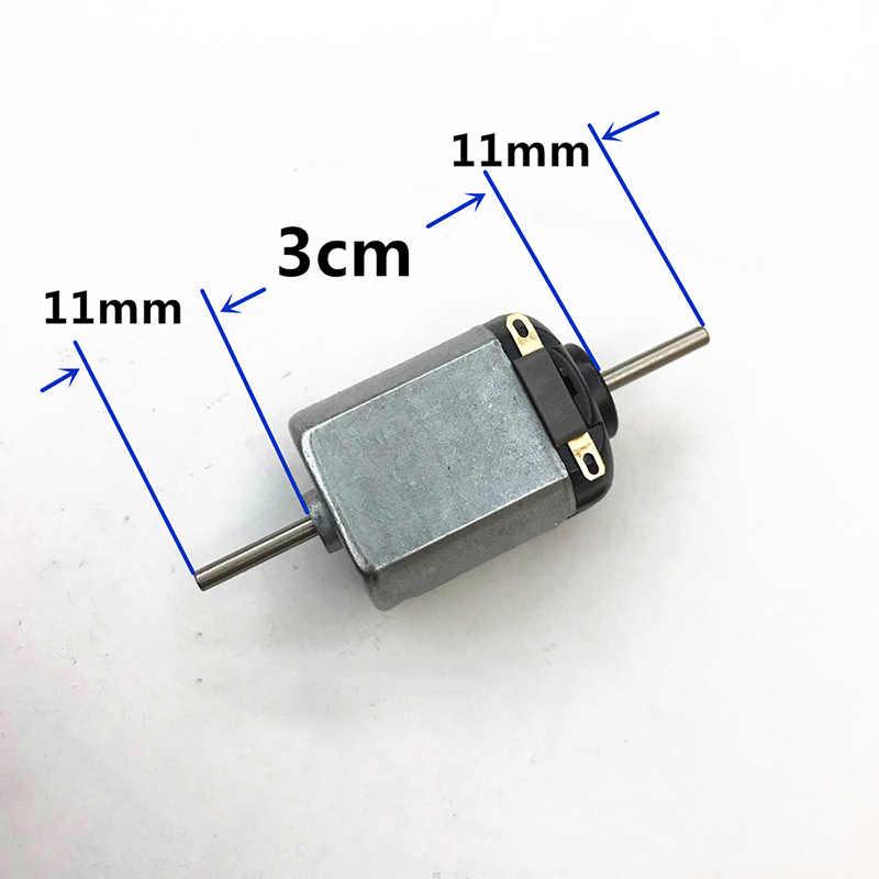 DC 1.5 V-3 V 14000 t/mn Mini 130 moteur Double arbre Double 2mm axe bricolage passe-temps jouet voiture ventilateur modèle Micro 15mm * 20mm moteur électrique