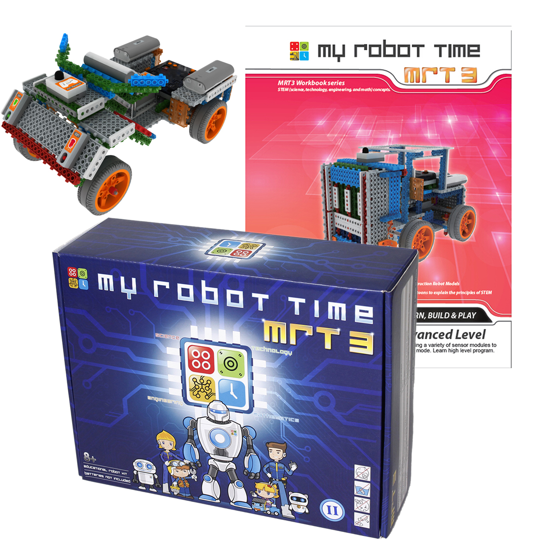 My Robot Time MRT 3-1/2/3/4High Tech  Multi-mode DIY Robots Building Block Kit Assembly Educational Robot Toy For 7-12 Years Old